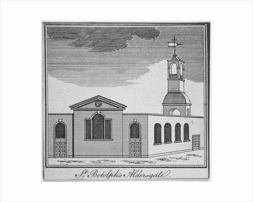 North-east view of the Church of St Botolph Aldersgate, City of London by Anonymous