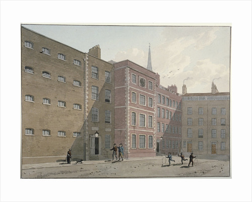 View of the quadrangle at Bridewell, City of London by George Shepherd