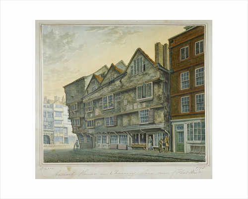 Houses on the corner of Chancery Lane and Fleet Street, City of London by William Capon