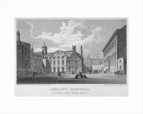 Christ's Hospital, City of London by Hablot Knight Browne