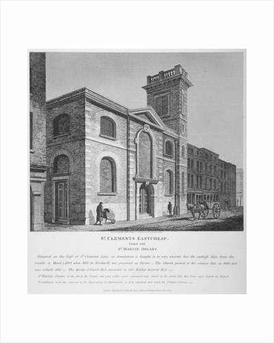 Church of St Clement, Eastcheap, City of London by John Coney