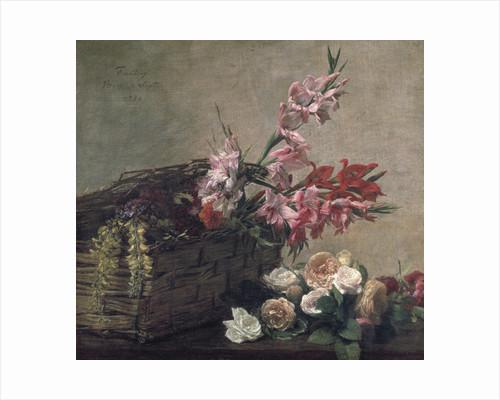 Gladioli and Roses by Pierre-Auguste Renoir