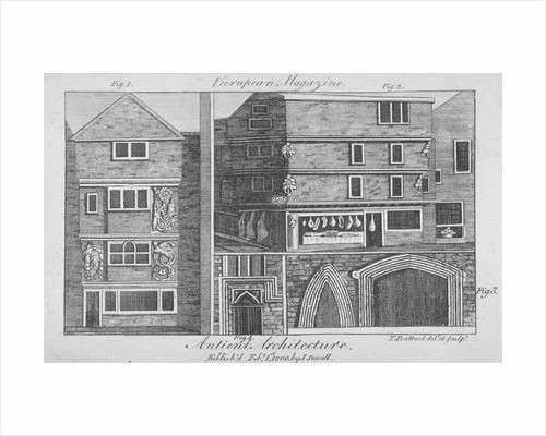 Four views of architectural features on buildings in Cloth Fair, Smithfield, City of London by Thomas Prattent