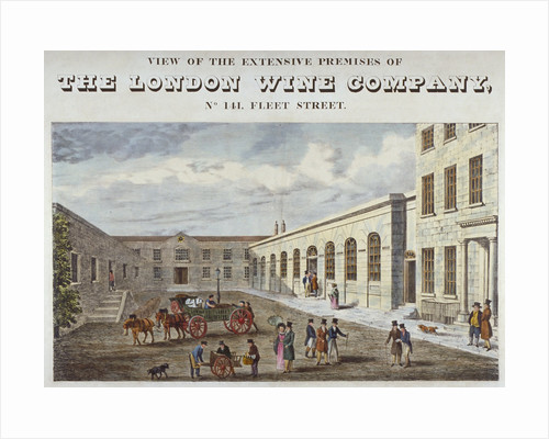 Premises of the London Wine Company at no 141 Fleet Street, City of London by William Johnstone White
