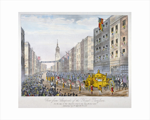 Royal coach on Cheapside, City of London by A Friedel