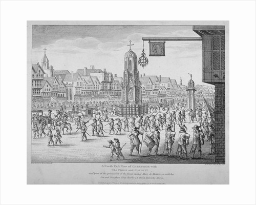 View of the procession of Marie de Medici along Cheapside, City of London, 1638 (1809) by John Rocque