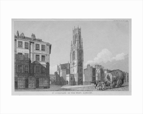 Church of St Dunstan in the West, Fleet Street, City of London by Anonymous