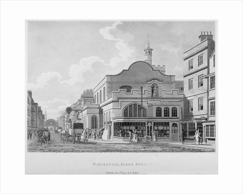 South-east view of the Church of St Dunstan in the West, Fleet Street, City of London by Anonymous