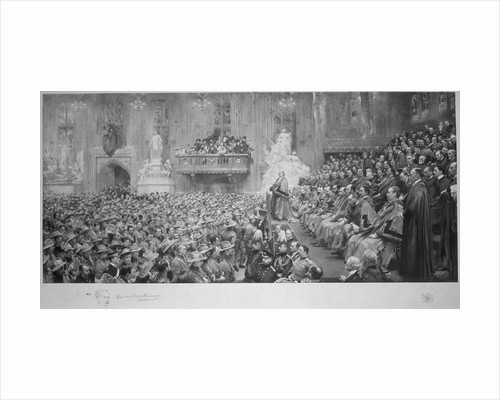 The City Imperial Volunteers in the Guildhall, City of London, 1900 (1902) by John Henry Frederick Bacon