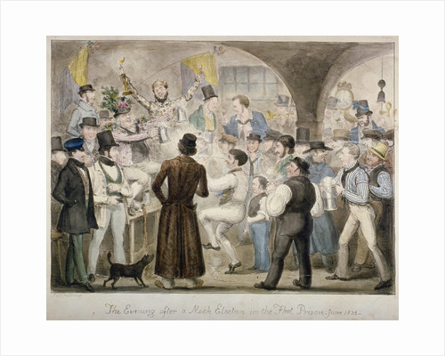 The evening after a mock election in the Fleet Prison, June 1835' by Anonymous