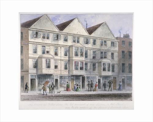 Fetter Lane, City of London by Thomas Hosmer Shepherd