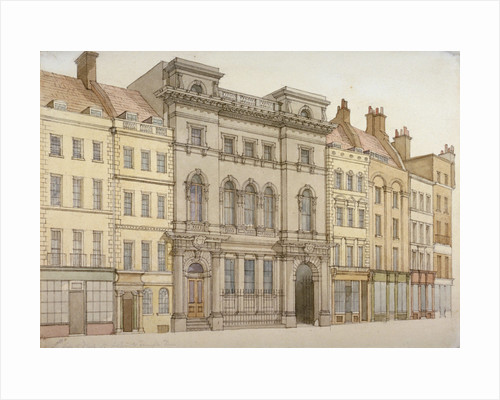 Buildings on the south side of Fleet Street, looking towards Temple Bar, City of London by W Henshall