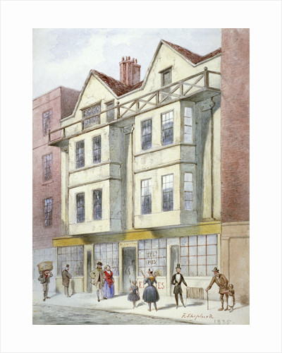 Blanchard's premises, Fleet Street, City of London by W Henshall