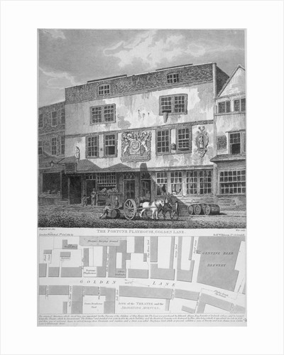 The Fortune Theatre, Golden Lane, City of London by Anonymous