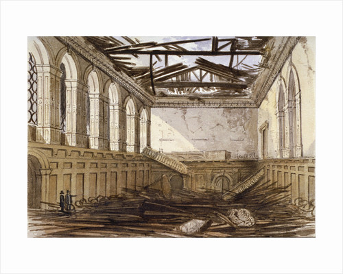 Ruins of the banqueting hall of Haberdashers' Hall, City of London by Anonymous