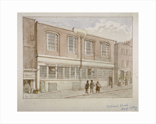 National School, Harp Alley, City of London by James Findlay