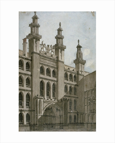 South-west view of the Guildhall front, City of London by George Shepherd