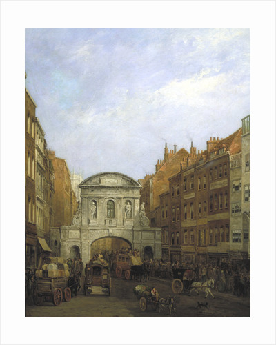 Temple Bar from the Strand, London by William Henry Haines