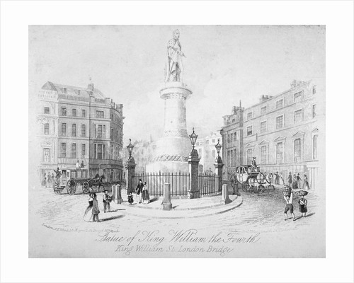 Statue of King William IV at the London Bridge end of King William Street, City of London by Anonymous