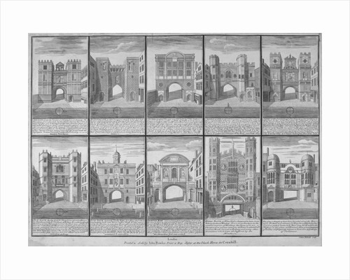 Ten gateways in the City of London and the City of Westminster by Sutton Nicholls