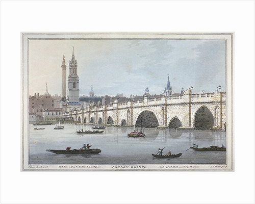Old London Bridge by Joseph Constantine Stadler