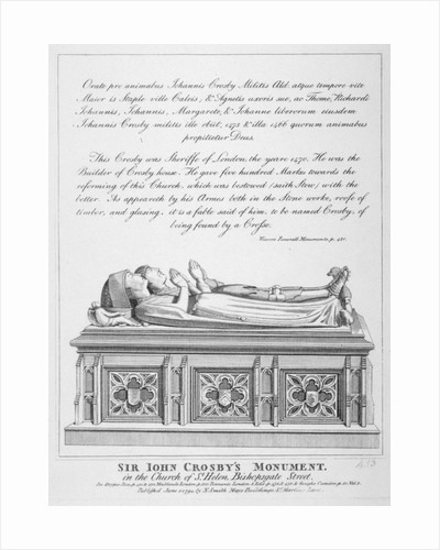 Tombs in the Church of St Helen, Bishopsgate, City of London by William Pearson