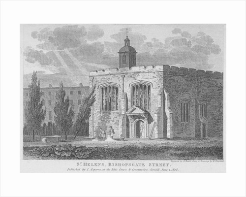 Church of St Helen, Bishopsgate, City of London by Samuel Rawle