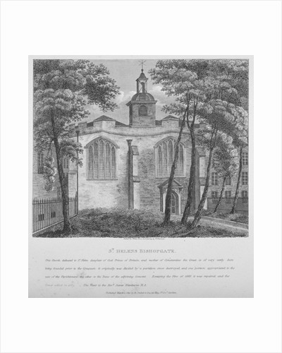 Church of St Helen, Bishopsgate, City of London by White