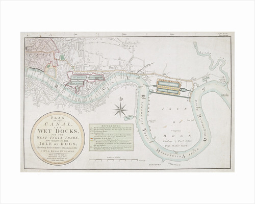 Proposed canals and docks, London by Anonymous