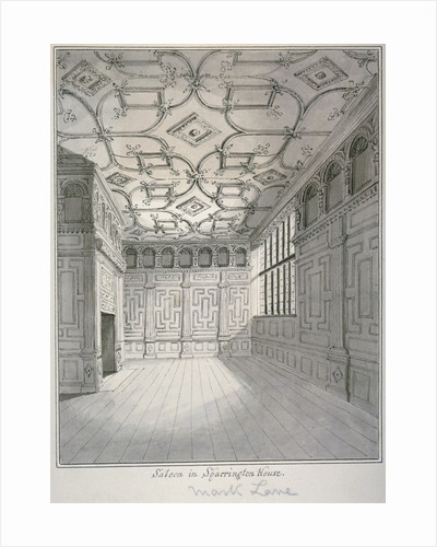 Interior view of the saloon in Sharrington House, Mark Lane, City of London by William Capon