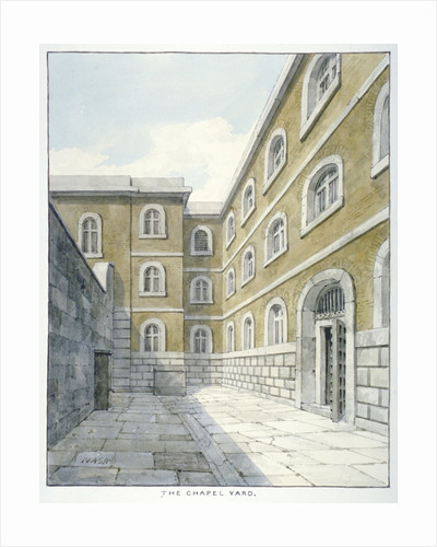The chapel yard in Newgate Prison, Old Bailey, Newgate Prison, Old Bailey, City of London by Anonymous