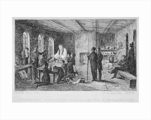 Inside Newgate Prison, Old Bailey, City of London by WT