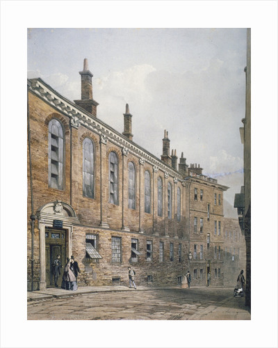 View of the Merchant Taylors' School in Suffolk Lane, City of London by Anonymous