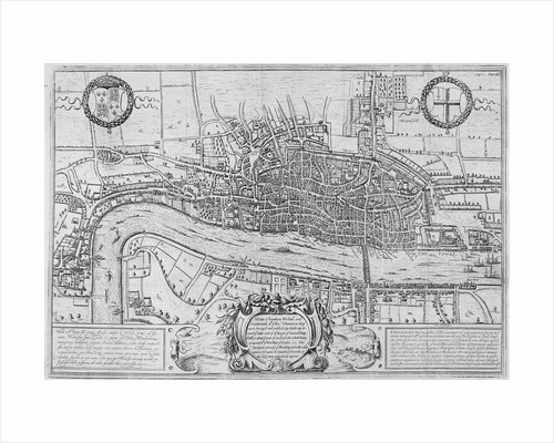 Map of the City of London and City of Westminster in c1600 by Daniel Havell