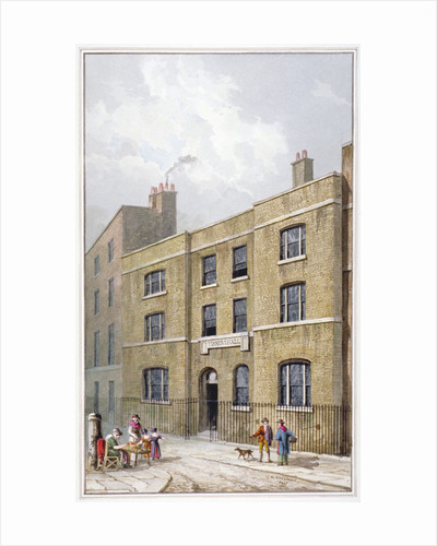 Building in Old Broad Street which bears the Pinners' Hall sign, City of London by William Woolnoth