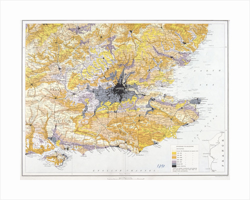 Map of London and south-east England by John Bartholomew