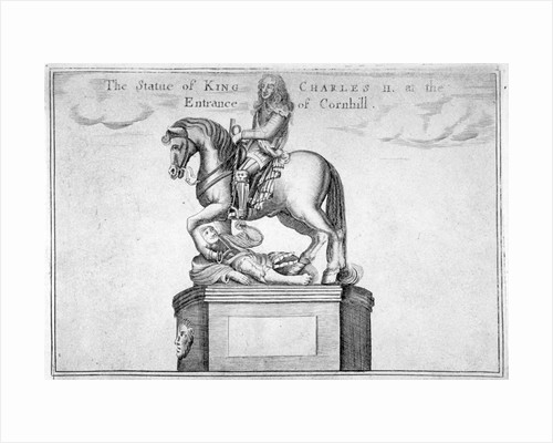 Statue of Charles II at the entrance of Cornhill in the Stocks Market, Poultry, London by Anonymous