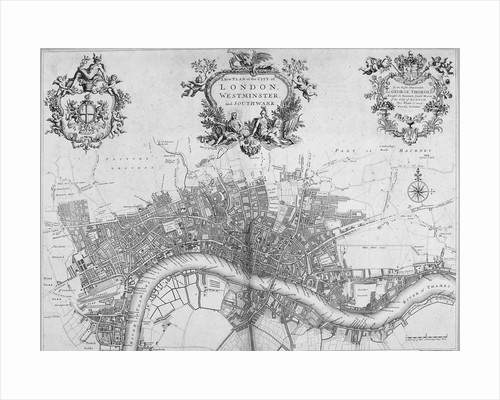 Map of Westminster, the City of London and Southwark by Anonymous