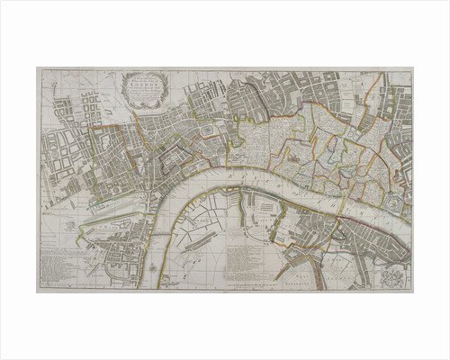 Map of Westminster, the City of London, Southwark and surrounding areas by John Chessell Buckler