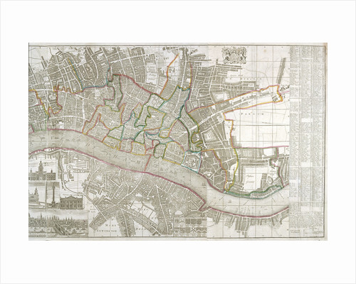 Map of Westminster, the City of London, Southwark and surrounding areas by Anonymous