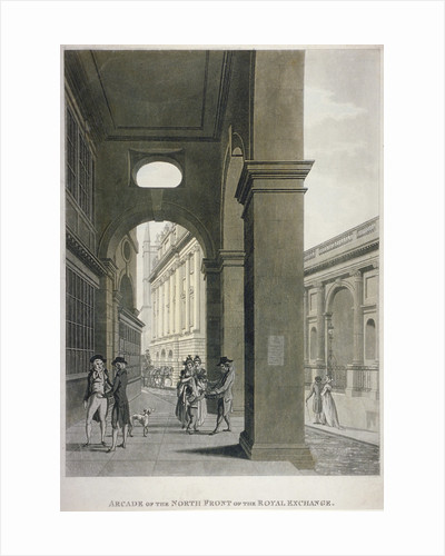 Arcade on the north front of the Royal Exchange, City of London by Anonymous