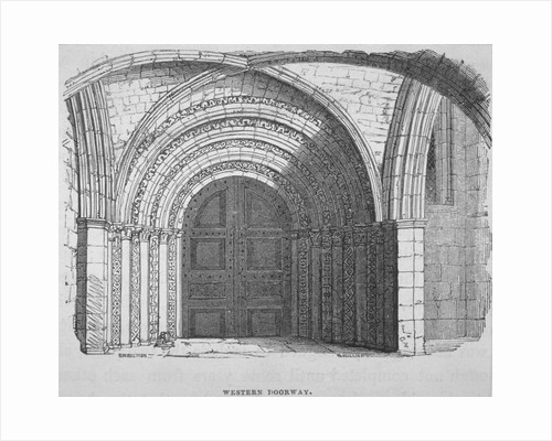 West entrance of Temple Church, City of London by James Newton