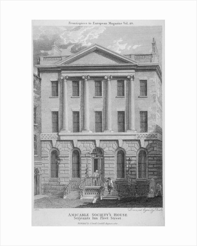 Amicable Society for a Perpetual Assurance Office, Serjeants' Inn, Fleet Street, London by Jean August Dominique Ingres