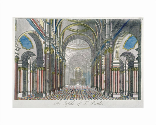Interior of St Paul's Cathedral, looking east from the nave towards the choir, City of London by Benjamin Cole