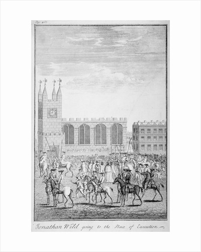 Jonathan Wild going to the place of execution, London by Anonymous