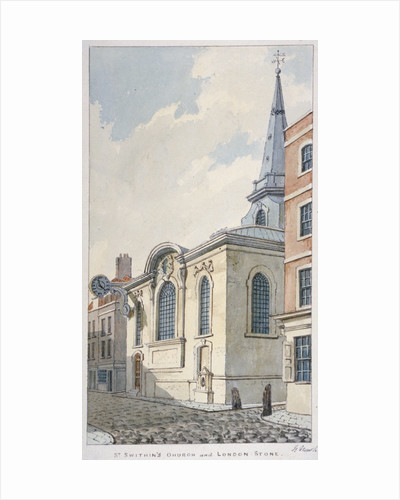 Church of St Swithin London Stone, City of London by Frederick Nash
