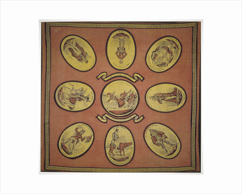 Handkerchief commemorating several events in the mayoralty of Alderman Sir John Key by Anonymous