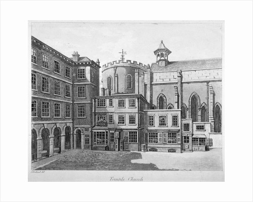 View of Temple Church, City of London by Anonymous