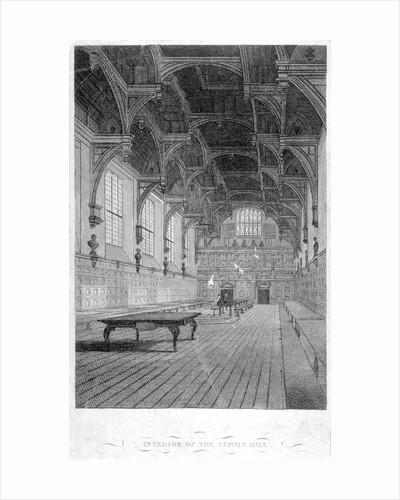 Interior view of Inner Temple Hall, City of London by J Greig