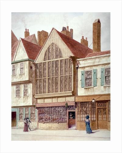 View of Trinity Hall, Aldersgate Street, City of London by JT Wilson